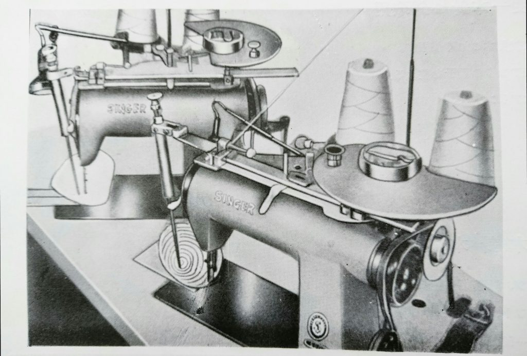 Singer 600w1 : ブラジャー・カップ自動縫製機