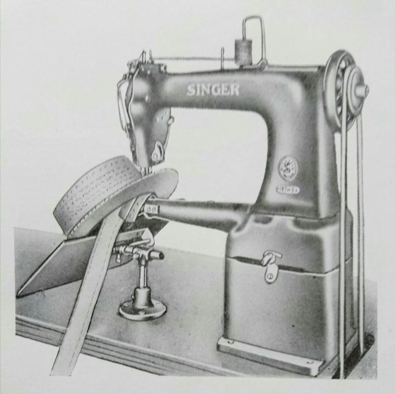Singer 127w3:麦藁帽子鬢皮ミシン