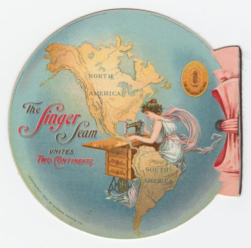 1901年の汎アメリカ博覧会のために発行されたシンガーミシンの広告パンフレット