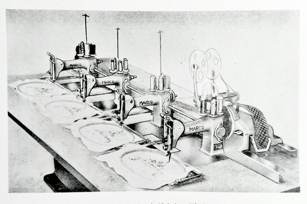 MARCO:154/174:4頭の自動刺繍ミシン