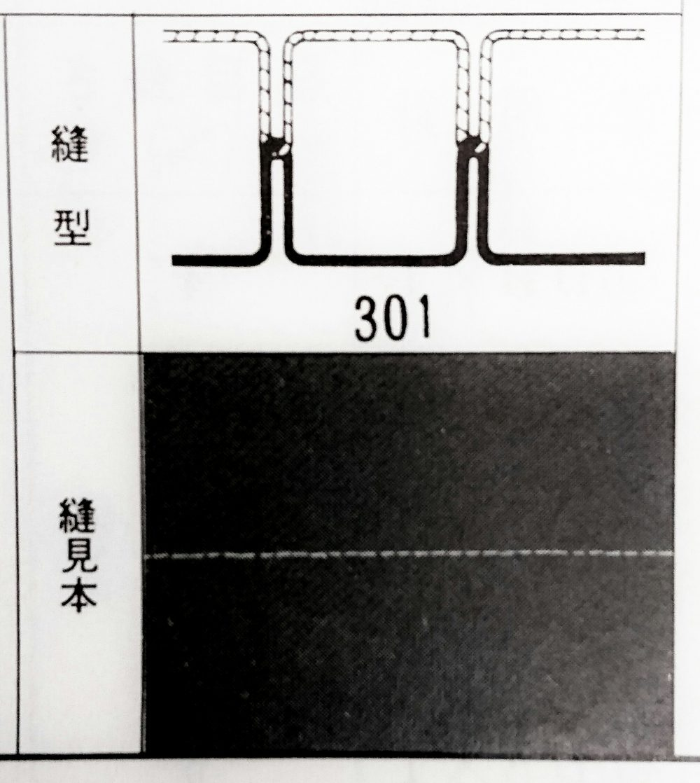 brother DB2 B705 400:高速本縫自動糸切ミシンの縫型・縫見本