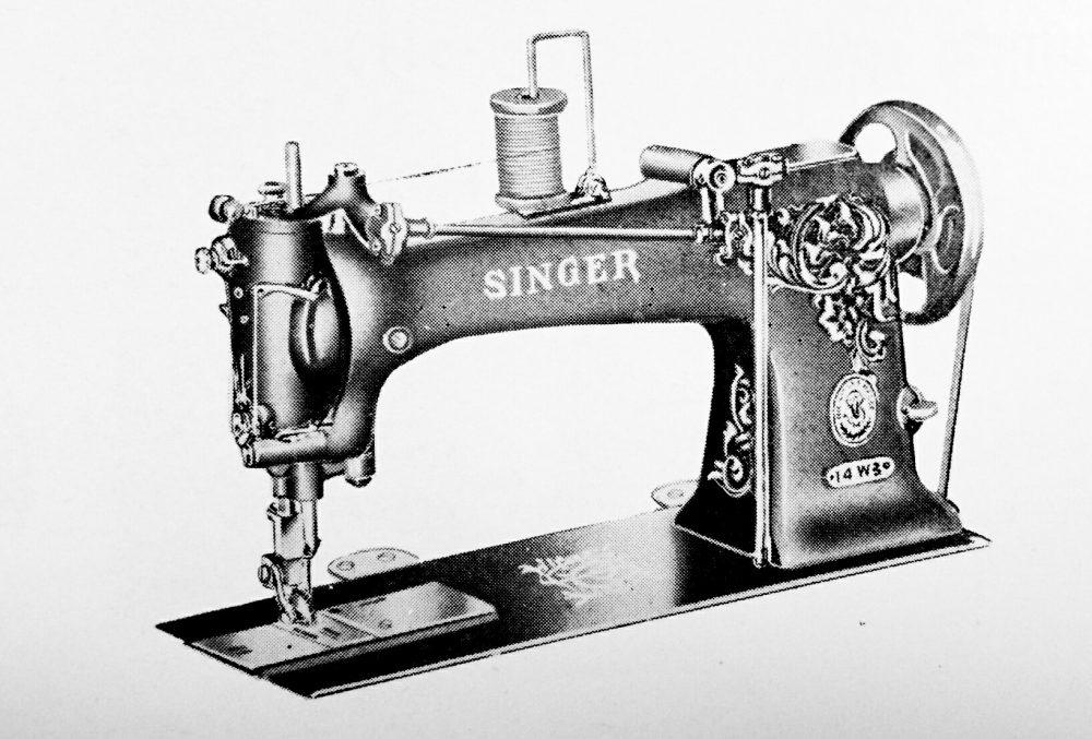 singer 14W3:1本針三重縫本縫ミシン