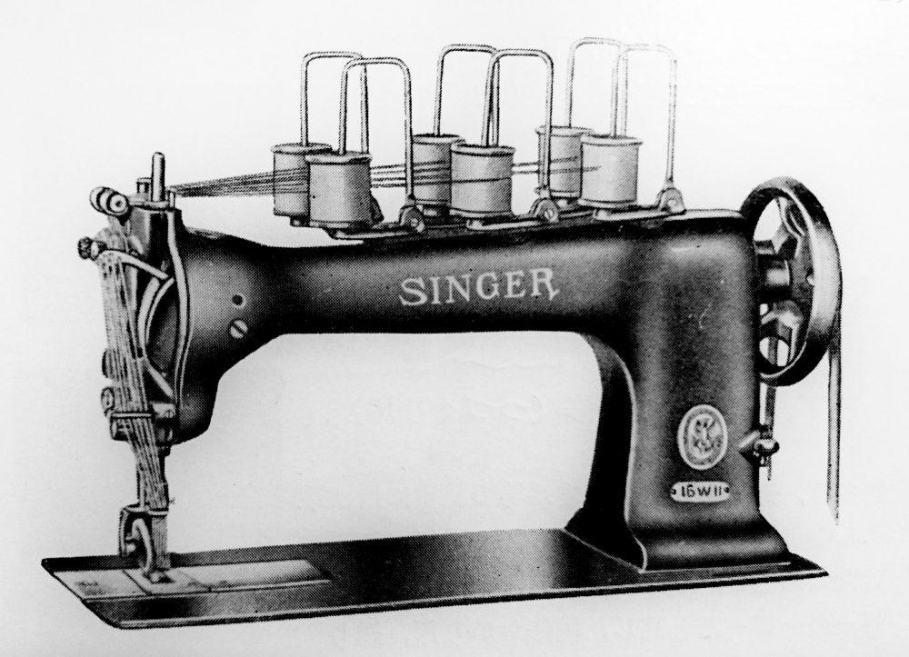 singer 16W11:短靴上部革の側面飾縫ミシン