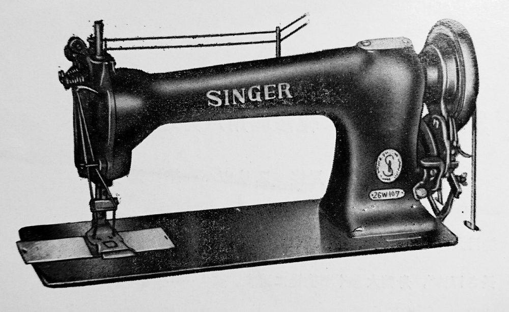 singer 26W107:ラベル縫付用ミシン