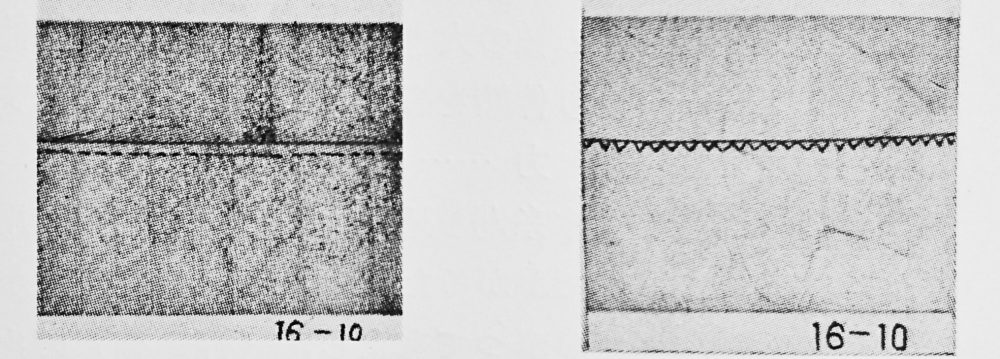 lewis 16-10:1本針2本糸伏縫ミシンの縫見本