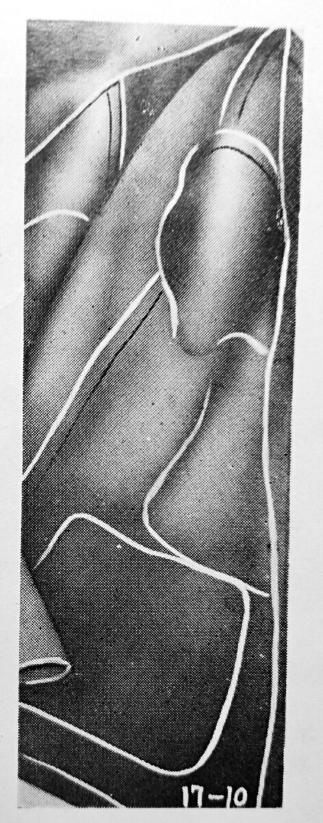 lewis 17-10:1本針2本糸伏縫ミシンの縫見本