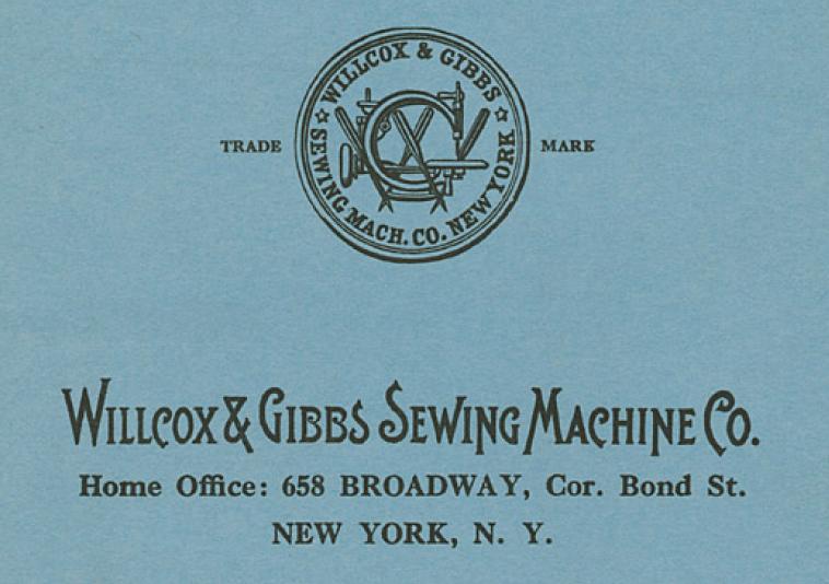 ウィルコックス・アンド・ギブス社のトレードマーク。