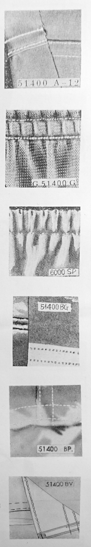 ユニオン・スペシャル 51400シリーズの縫見本。