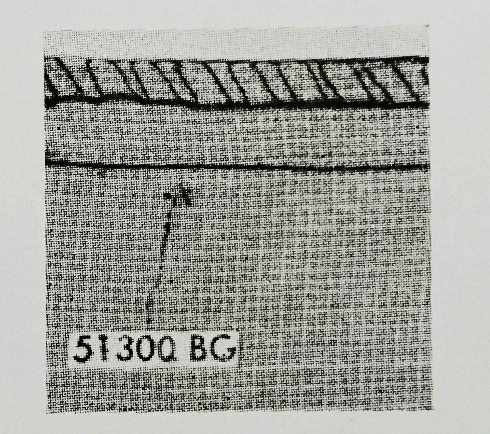 ユニオン・スペシャル51300シリーズの縫見本。