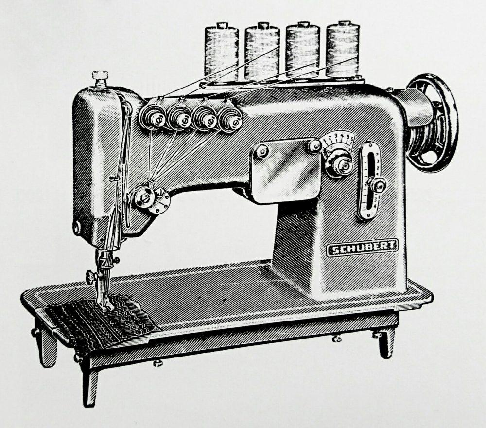 シューベルト 51C:4本針飾縫ミシン