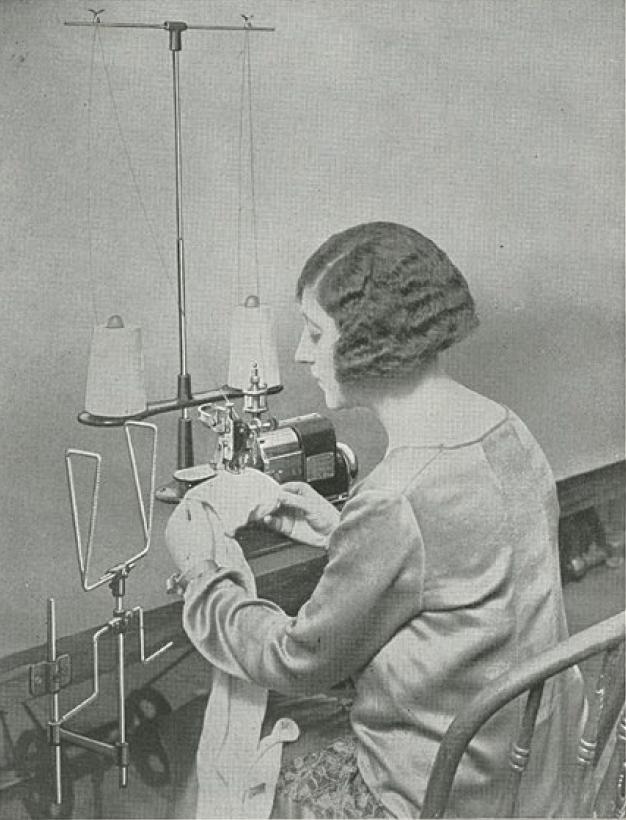 メロー社のミシン女性