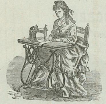 レミントン社のミシン女性