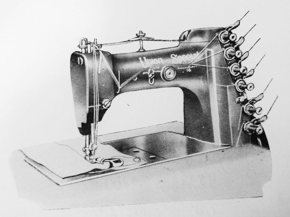 ユニオン・スペシャル 51900BH:厚地用3本針二重環縫ミシン