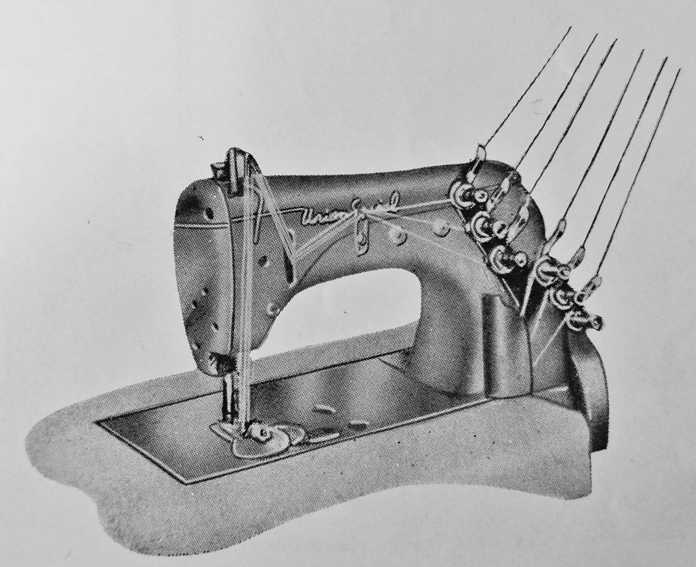 ユニオン・スペシャル 51900G:薄地用3本針二重環縫ミシン