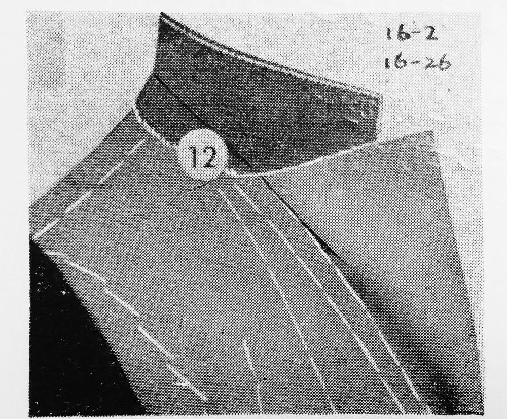ストローベル 16-26(袖裏まつい縫・千鳥からげ縫ミシン)の縫見本