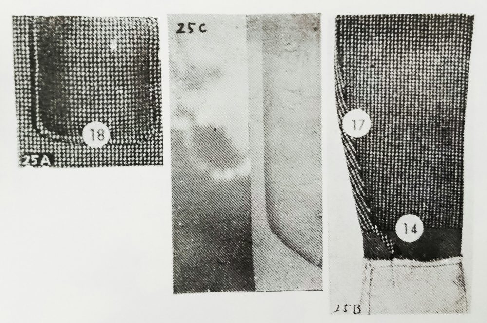 ストローベル 25A、ストローベル 25B、ストローベル 25Cの縫見本