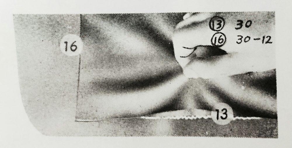 ストローベル 30-12(2本糸奥まつい縫いミシン)の縫見本