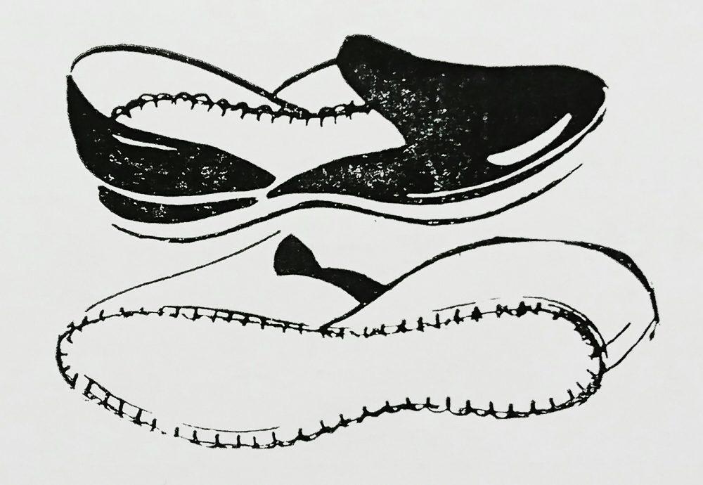 ストローベル 40-2-H(2本糸皮手袋まつい縫ミシン)の縫見本