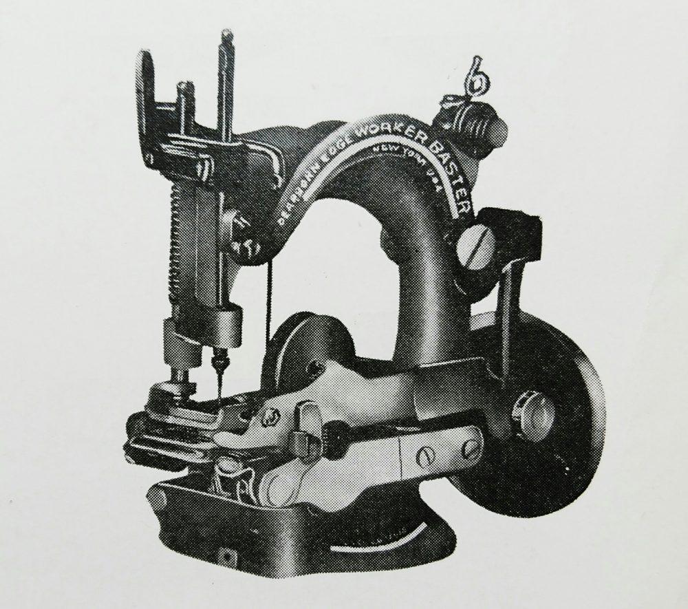 ディアボーン・ブラインド・ステッチ:1本針環縫ミシン