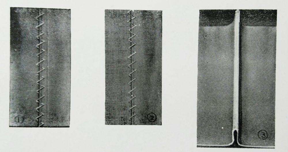 ユーエス・ブラインド・ステッチ 448(縁テープ飾縫ミシン)の縫見本